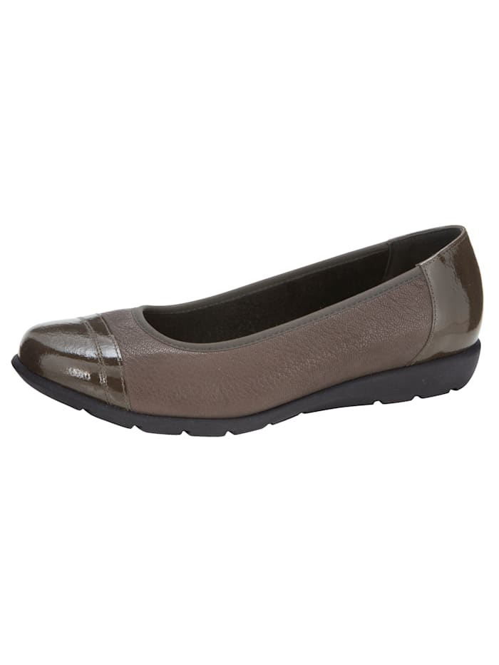 Naturläufer Ballet pumps made from premium leather, Taupe