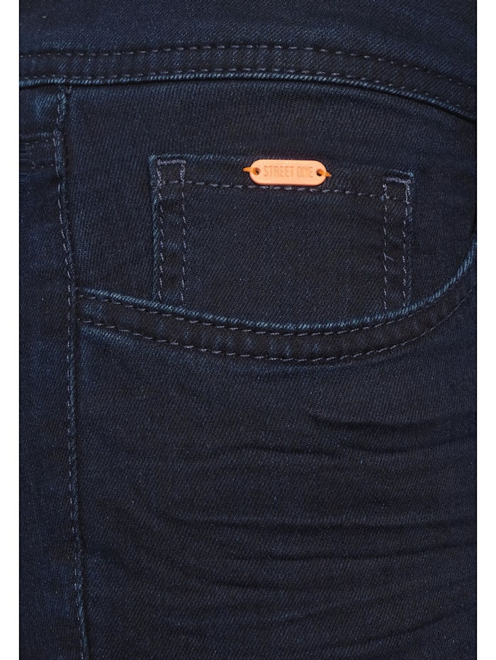 Dunkelblaue Slim Fit Denim