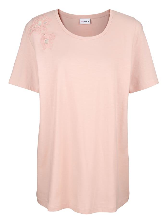 T-shirt à broderie décorative