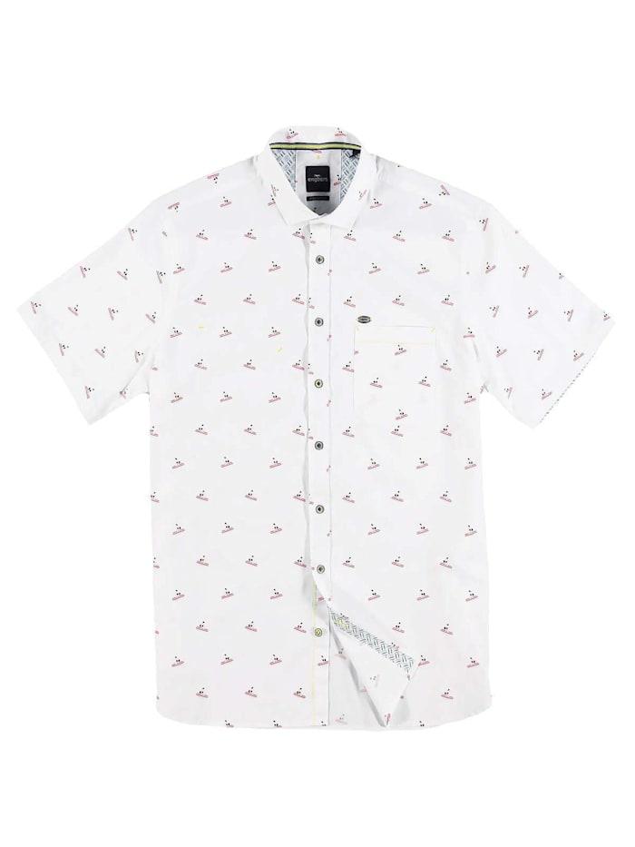 Engbers sommerliches Hemd mit Comfort-Stretch-Anteil, Reinweiss