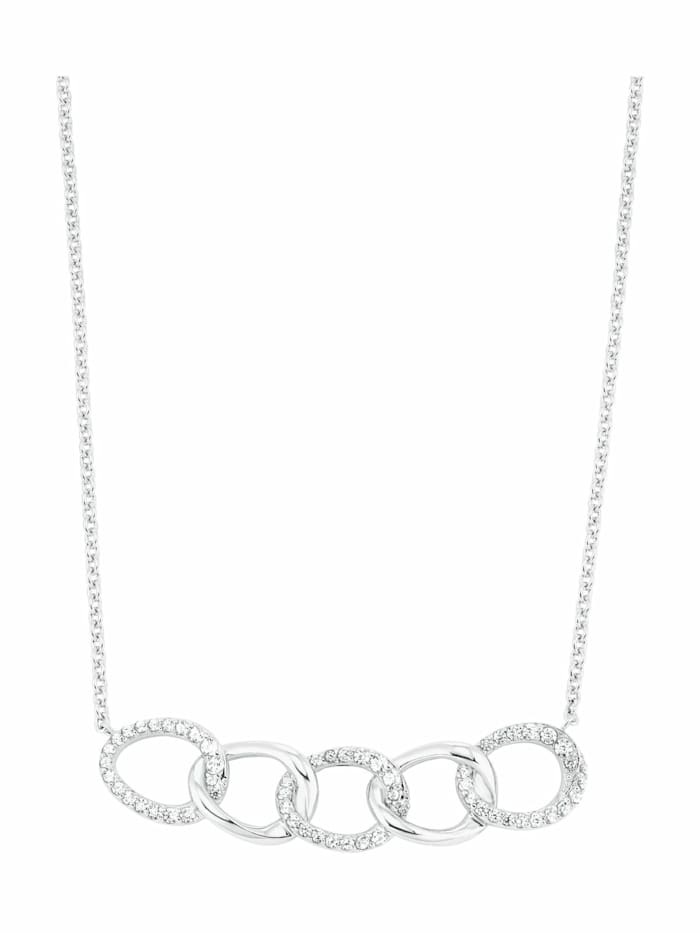 s.Oliver Kette mit Anhänger für Damen, Sterling Silber 925, Kreis, Silber