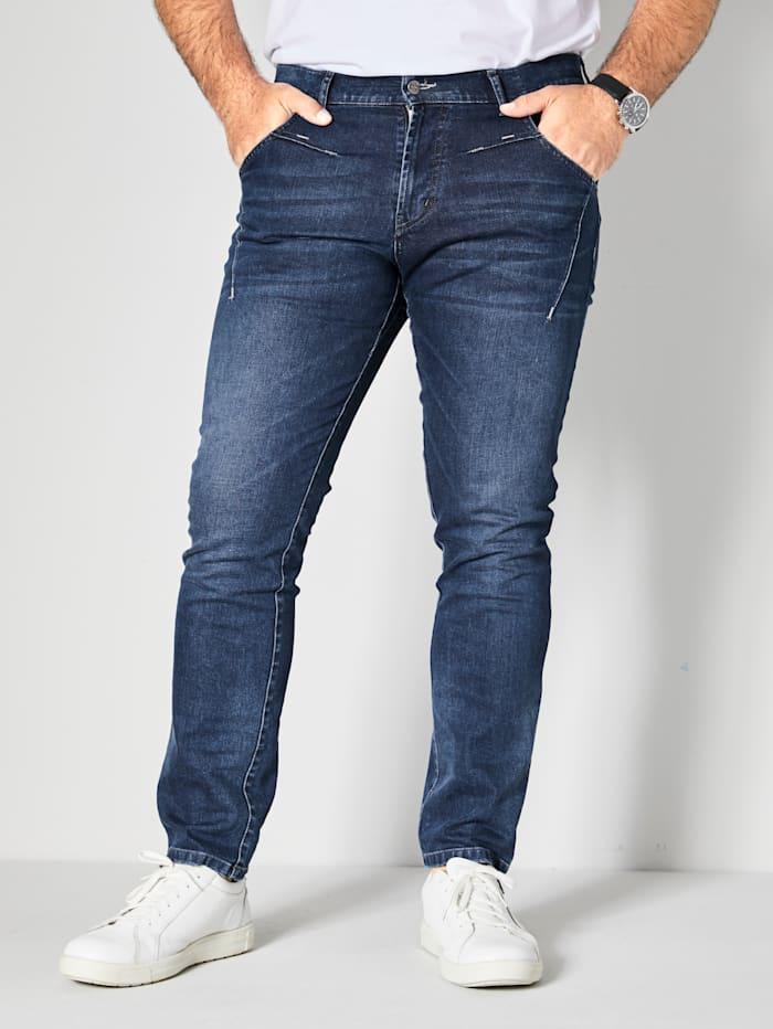 Men Plus Jeans Slim Fit, Dark blue