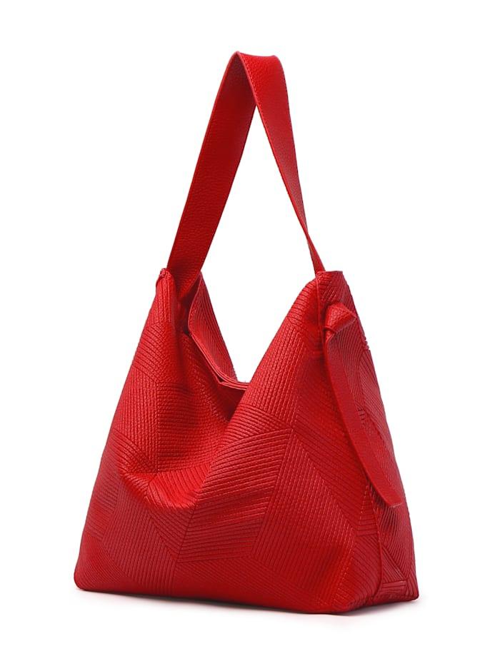 Collezione Alessandro Schultertasche Isabella aus modischem Material, rot
