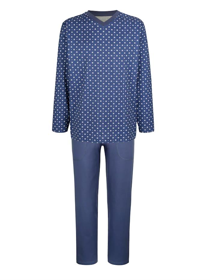 BABISTA Schlafanzug aus mercerisierter Baumwolle, Marineblau