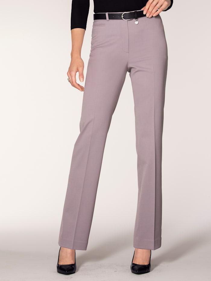 Artigiano Straight leg trousers made from bi-stretch fabric, Mauve