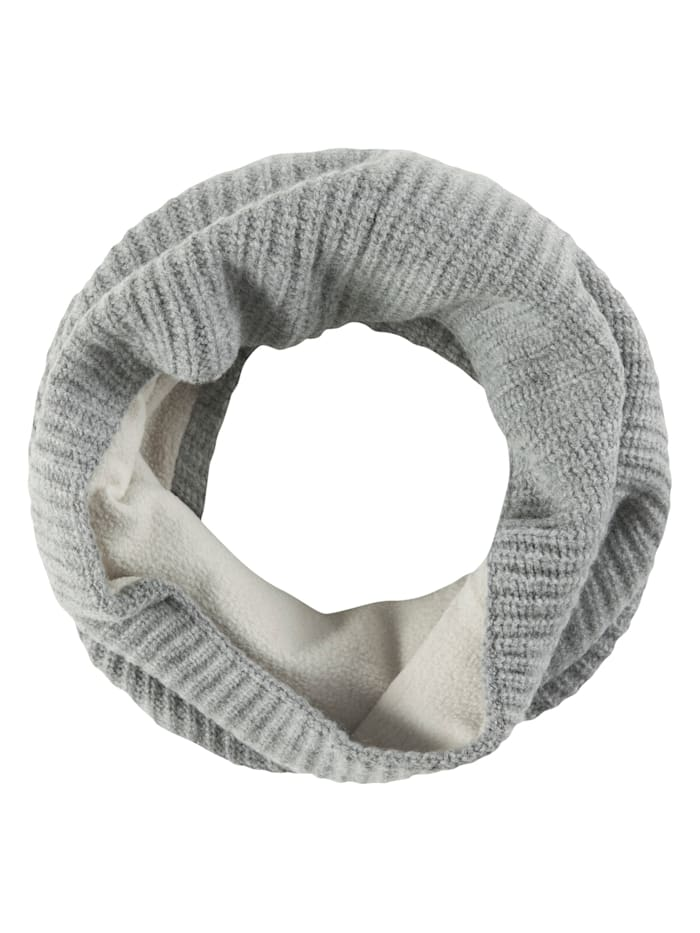 Codello Strick-Loop mit kuscheliger Fleece-Innenseite, grey