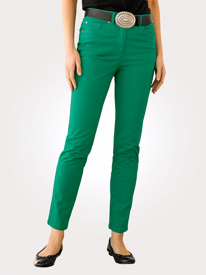 MONA Trousers in a sporty 5-pocket-style, Green