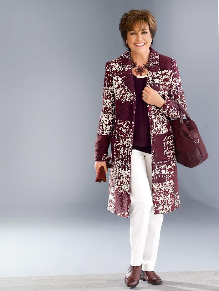 Wollen mantel in elegant model