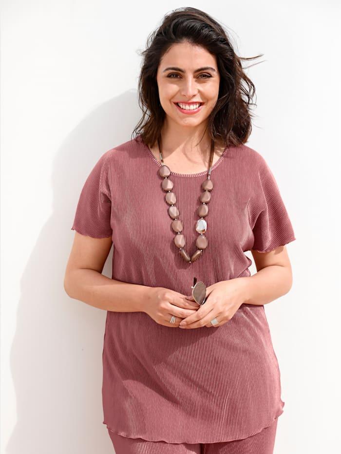 MIAMODA Shirt in Plissee Qualität, Rosé