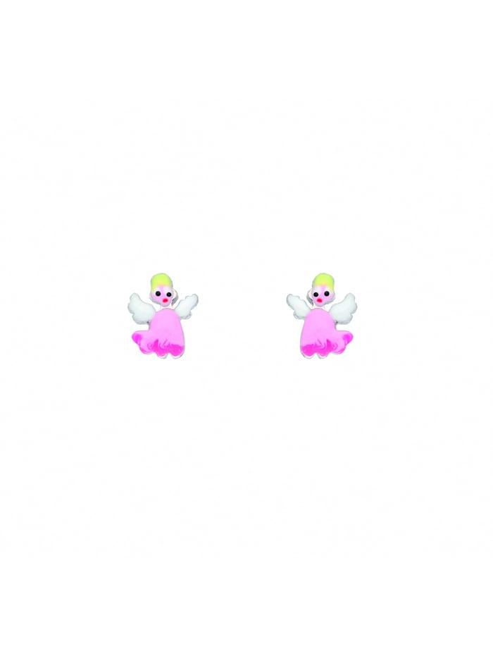 1001 Diamonds Damen Silberschmuck 925 Silber Ohrringe / Ohrstecker Engel, silber
