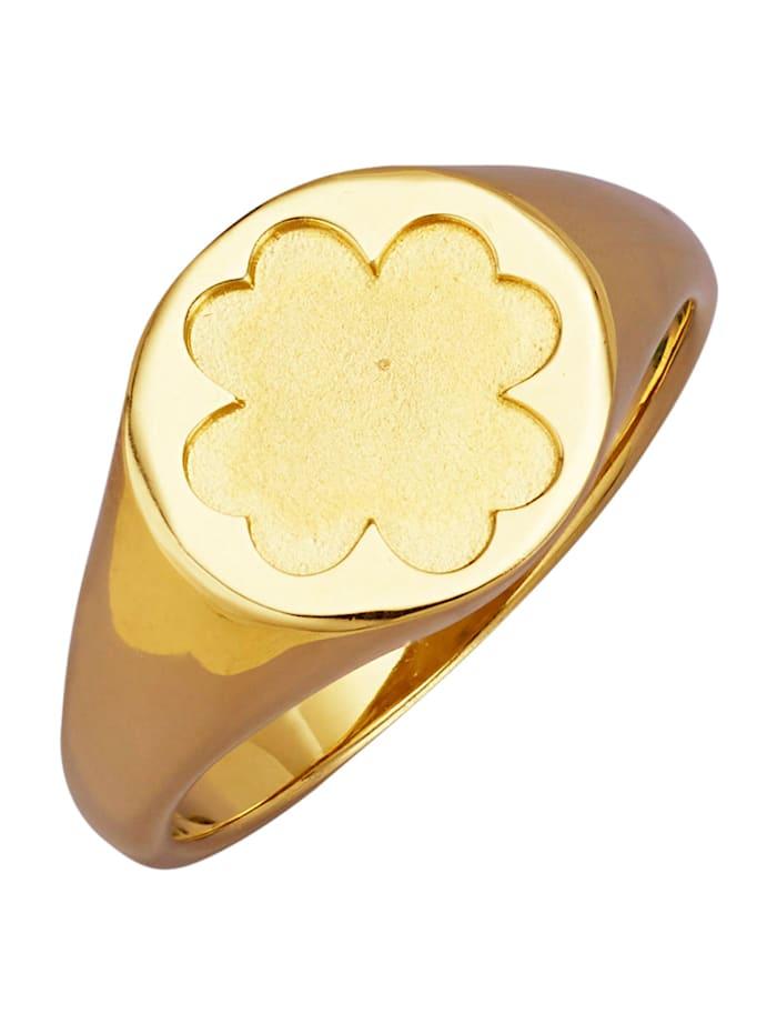 Diemer Gold Kleeblatt-Ring in Gelbgold 585, Gelbgoldfarben