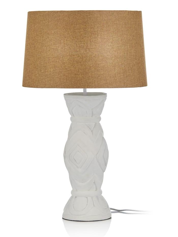 IMPRESSIONEN living Lampe de table, blanc/naturel