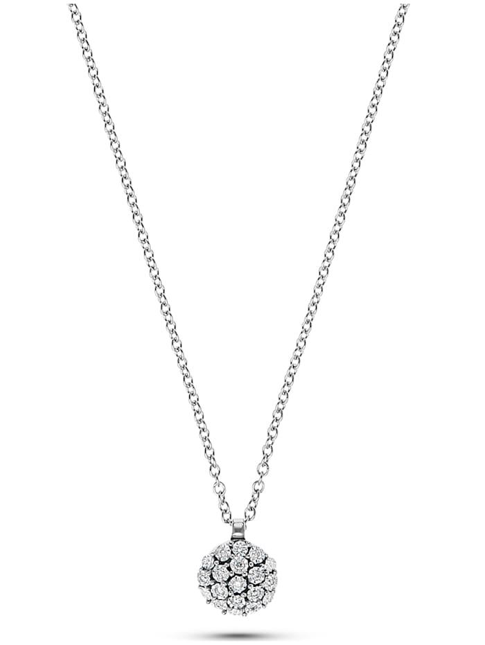 CHRIST C-Collection CHRIST Damen-Kette 375er Weißgold 13 Diamant, weißgold