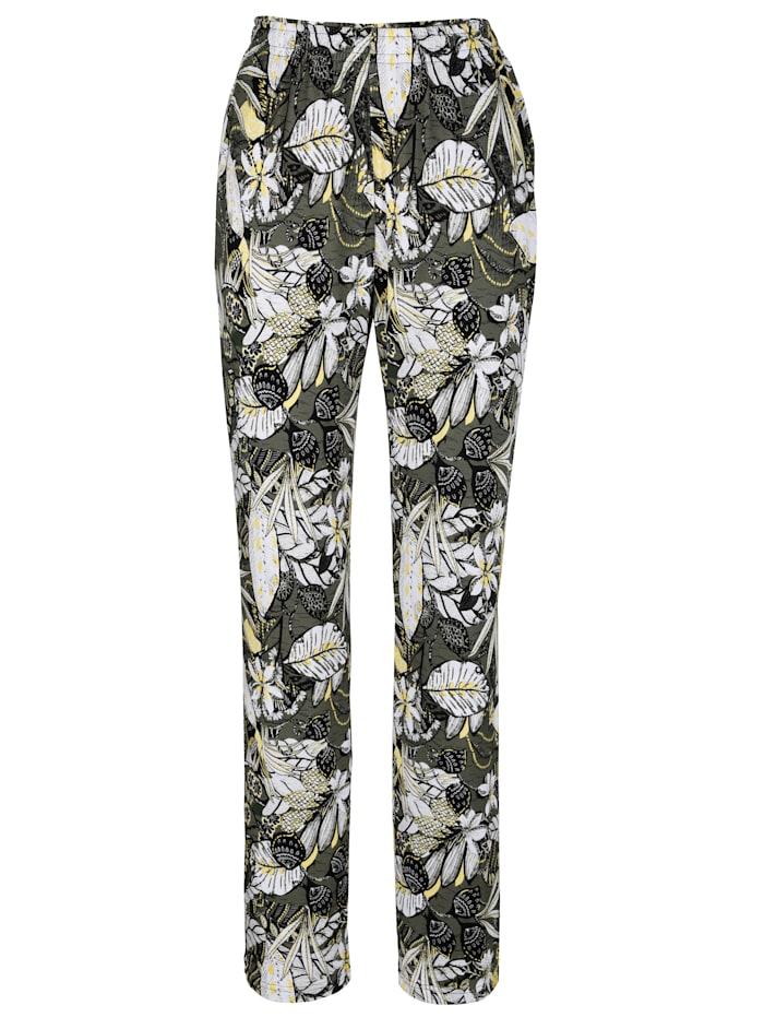 Pantalon à superbe imprimé fleuri