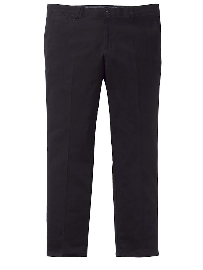 Men Plus Vatsan kohdalta tilavat housut, Musta