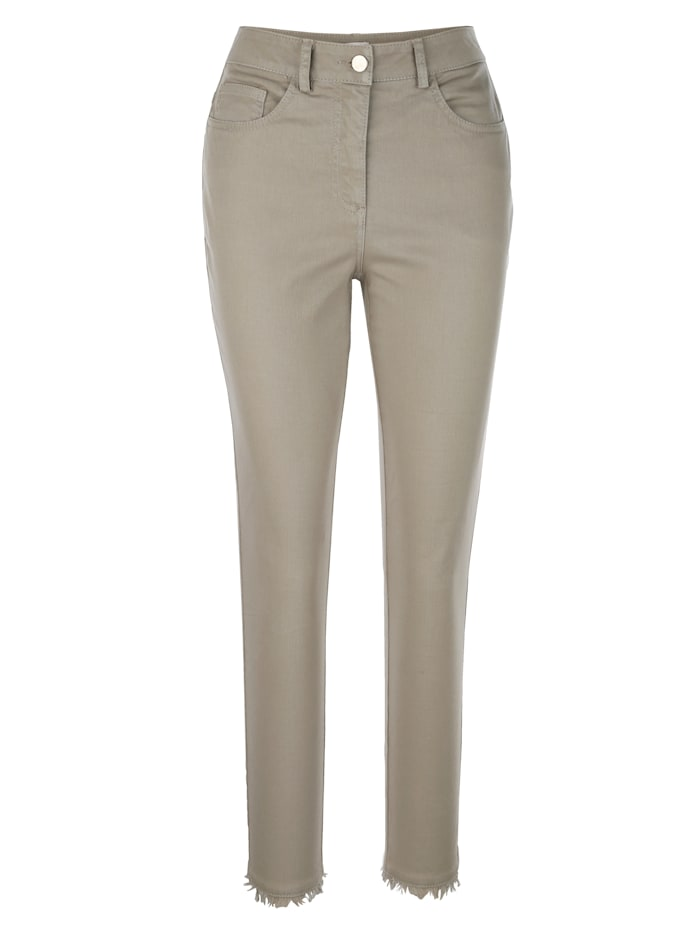 Trousers with cutout detail