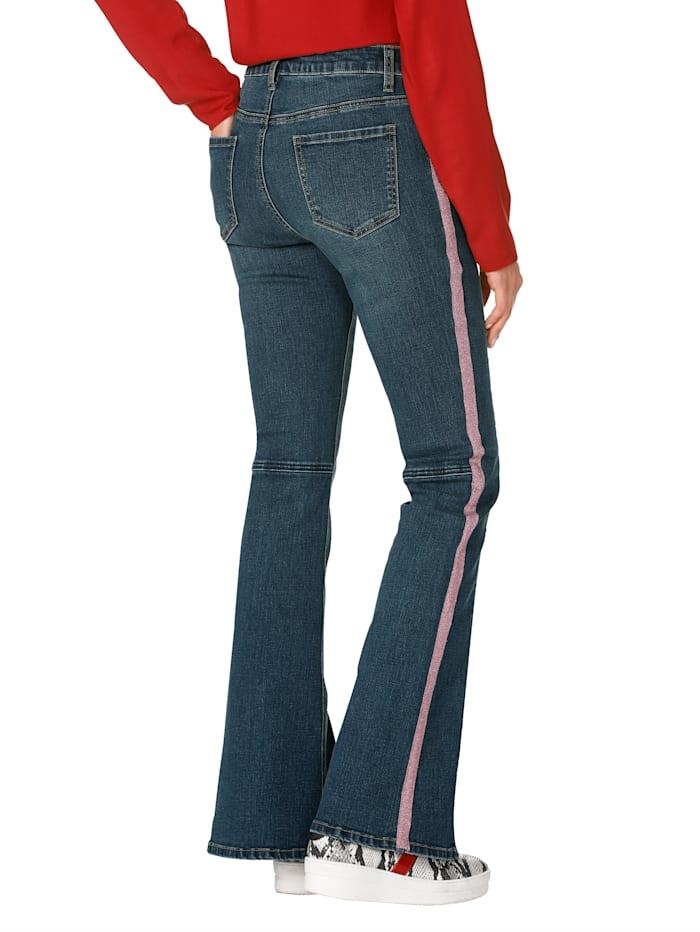 Jeans mit unterlegtem Reißverschluss