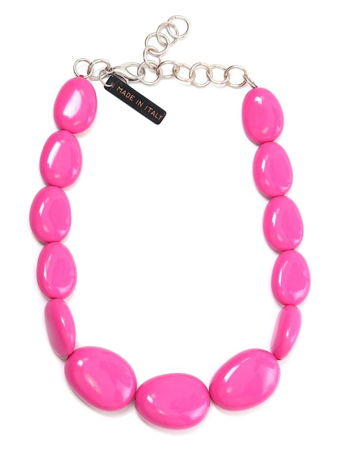 Collezione Alessandro Kurze Kette Bärbel aus unterschiedlichen Perlen, pink