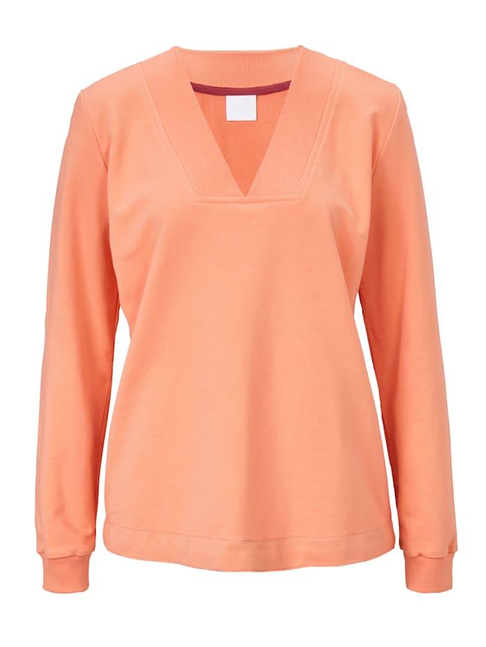 REKEN MAAR Sweat-shirt, Abricot