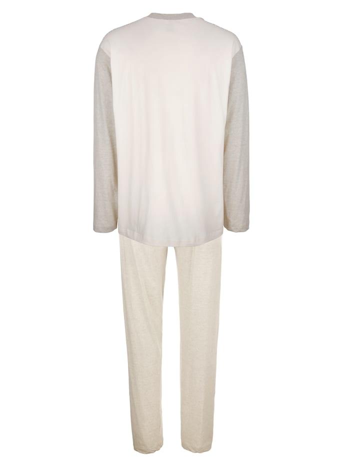 Schlafanzug aus naturbelassener Baumwolle