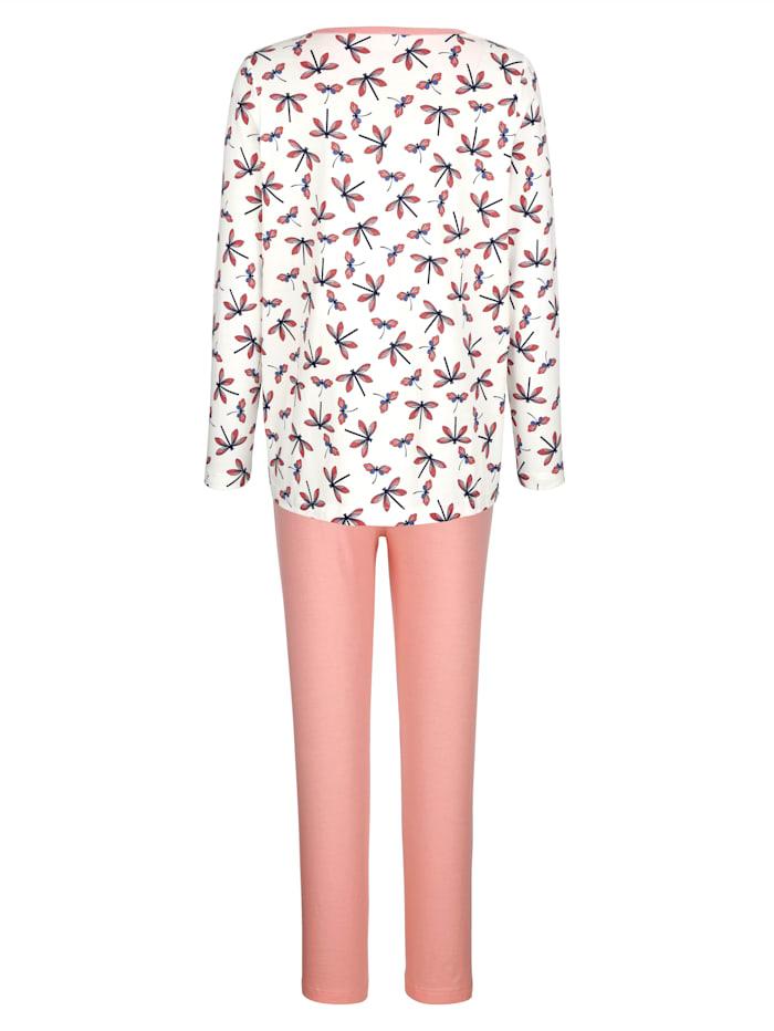 Pyjama met licht uitlopend shirt
