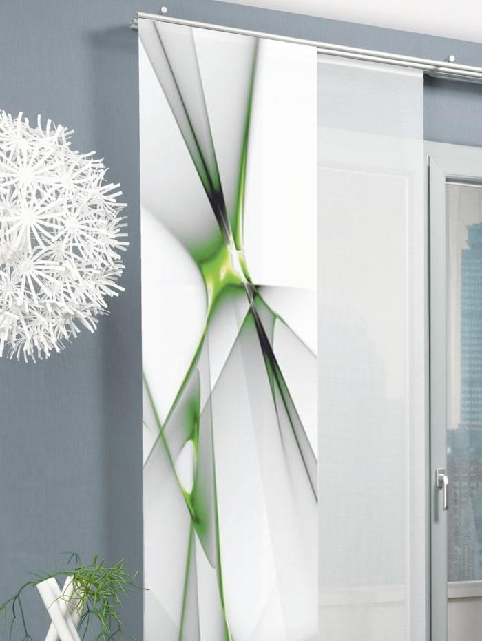 Home Wohnideen Schiebegardine 'FRANKLIN', apfelgrün
