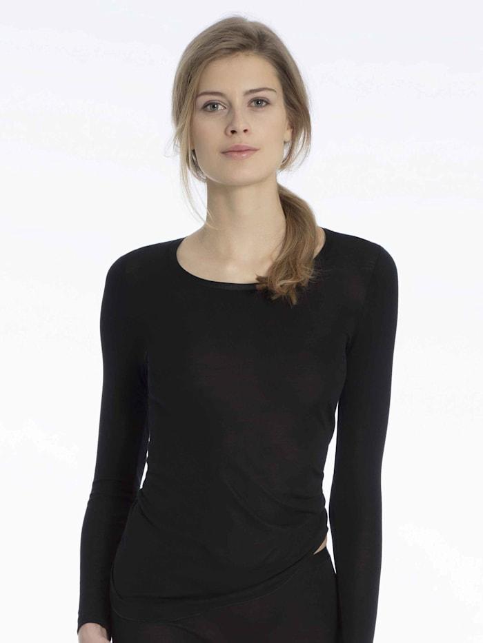 Langarm-Shirt aus Wolle-Seide Made in Europe