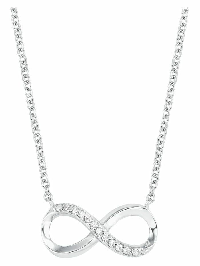amor Kette mit Anhänger für Damen, Silber 925,43cm,Infinity,Anker, Silber