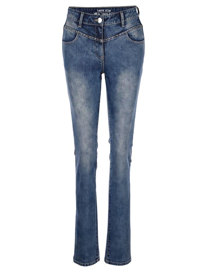 Jeans Laura Slim in modischem Moonwash