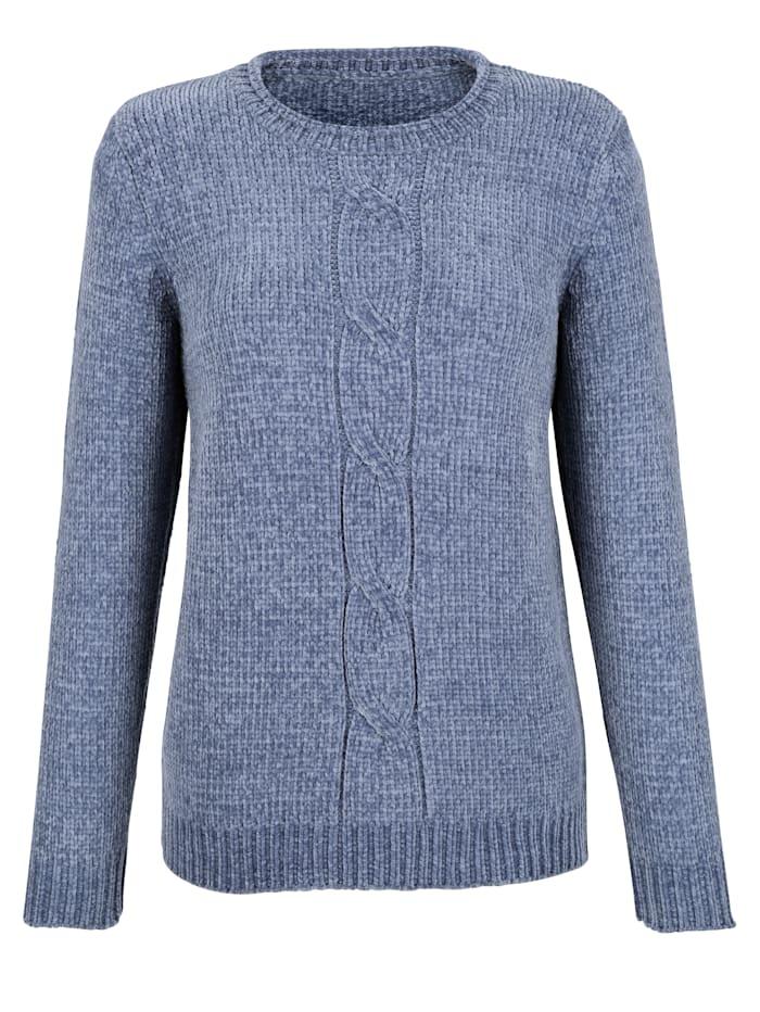 Dress In 3tlg. Set bestehend aus Pullover, Mütze und Loop, Blau