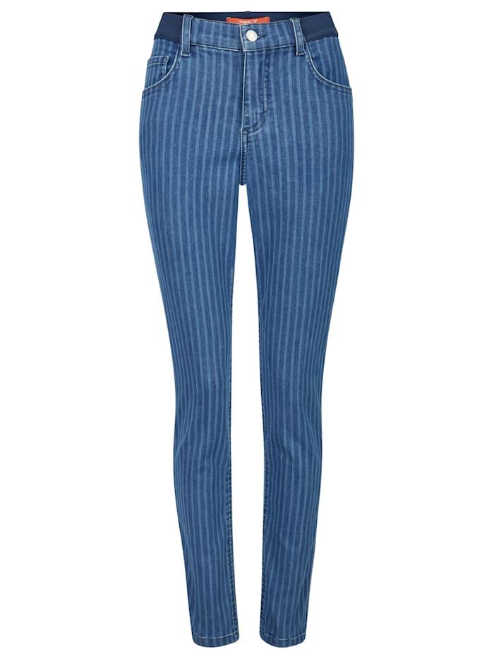 Angels Jeans 'ONE SIZE' mit feinem Streifen-Muster, light blue
