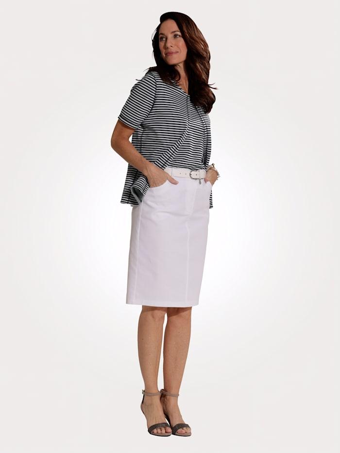MONA Jeansrock aus Denim-Qualität, Weiß