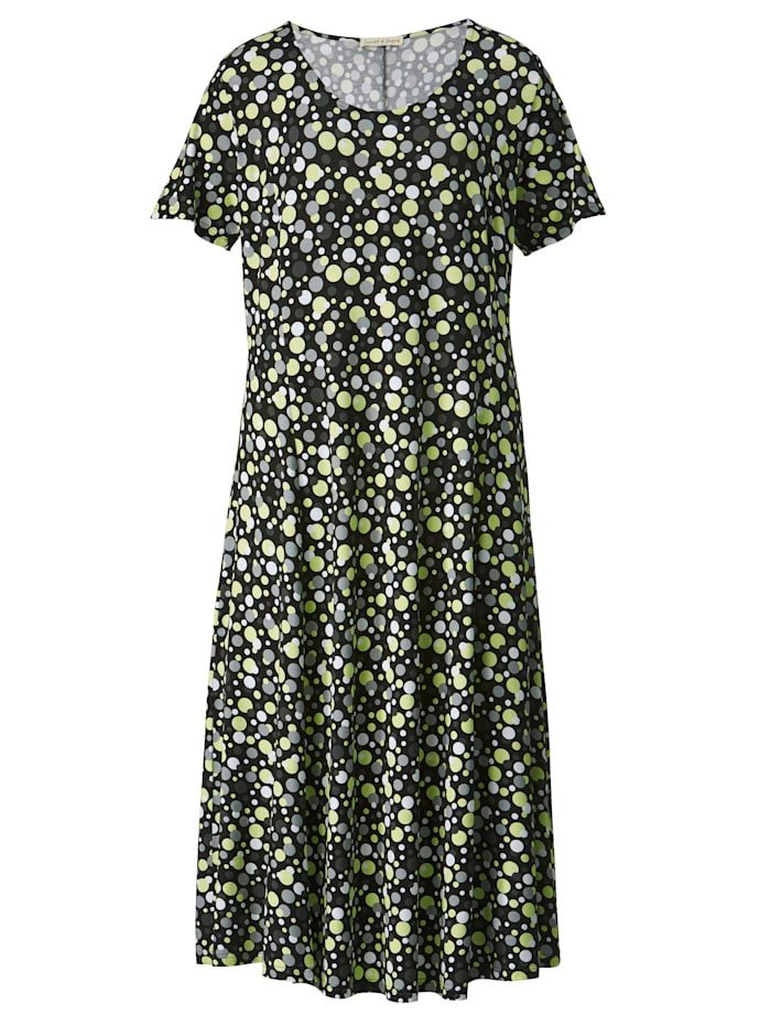 Žerzej šaty v mírně rozšířeném střihu