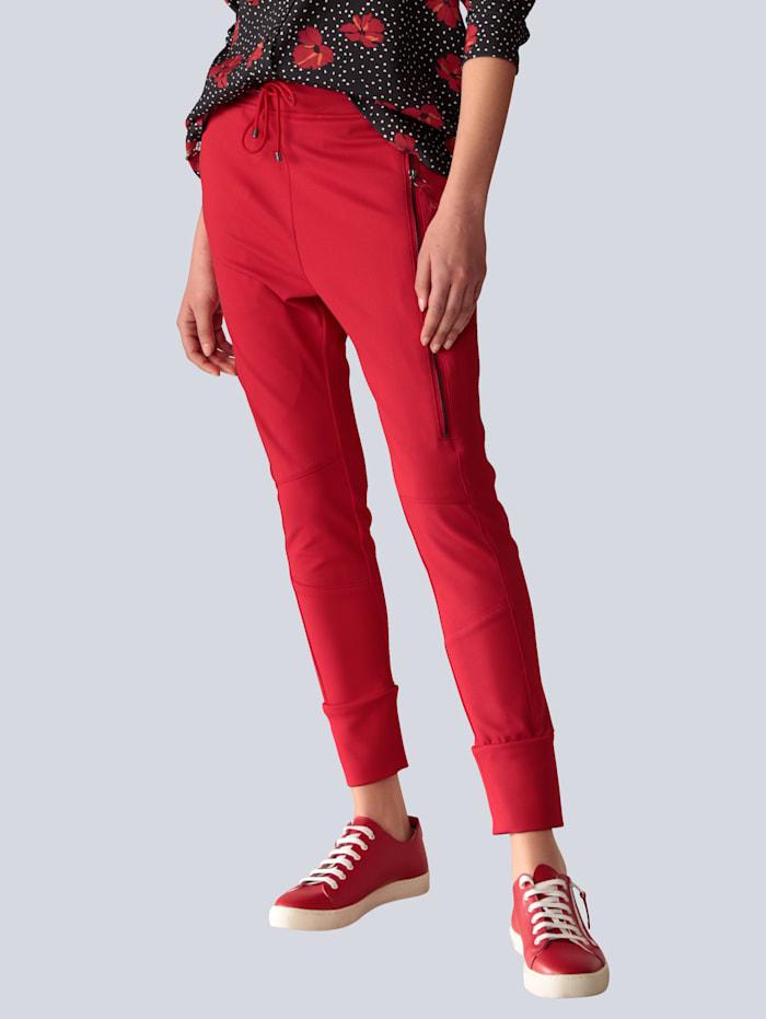 MAC Hose mit dekorativen Taschen, Rot