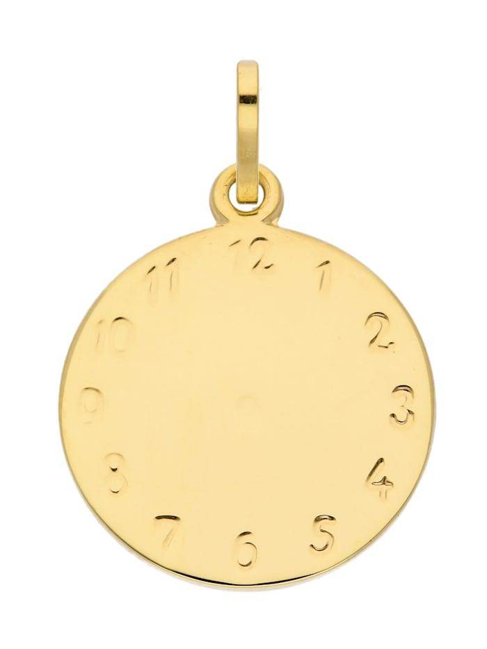 1001 Diamonds Damen Goldschmuck 333 Gold Anhänger Taufuhr Ø 14,1 mm, gold