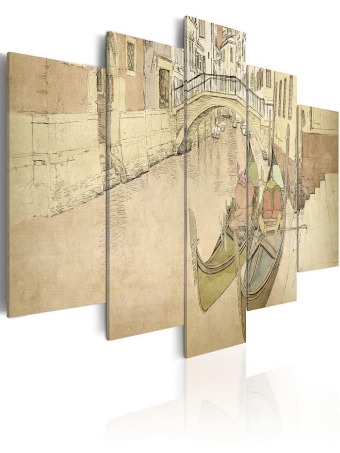 artgeist Wandbild Venedig und Gondeln, Beige,Creme