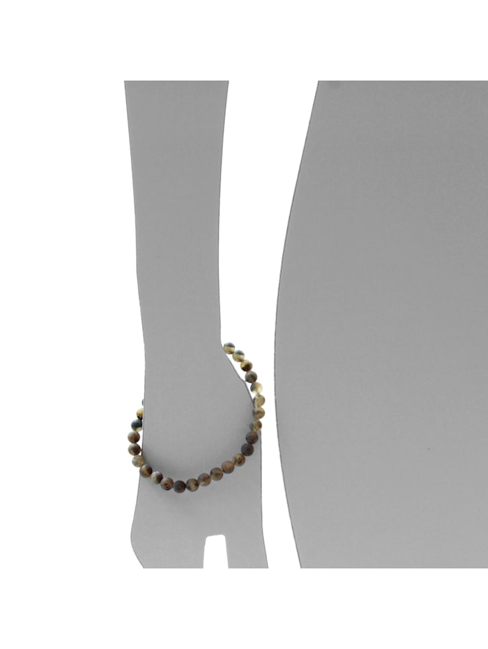 Armband - Kugel 6 mm - Bernstein - ,