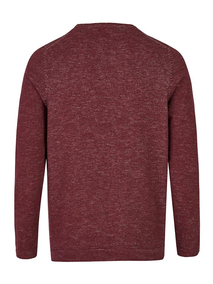 Dynamischer Pullover im Melange-Look