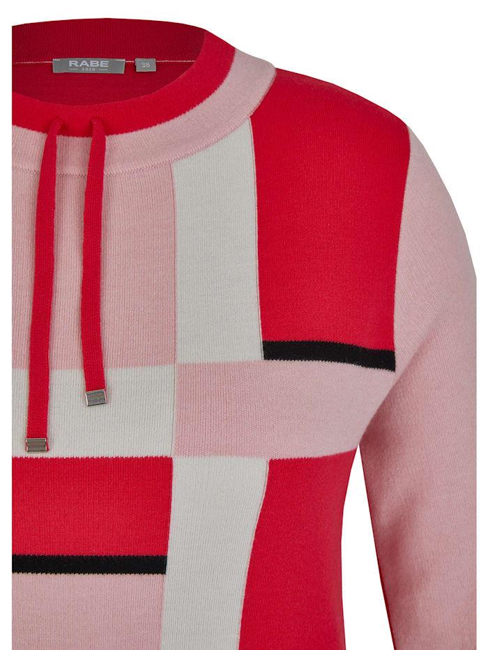Pullover mit Colour-Blocks und Tunnelzug