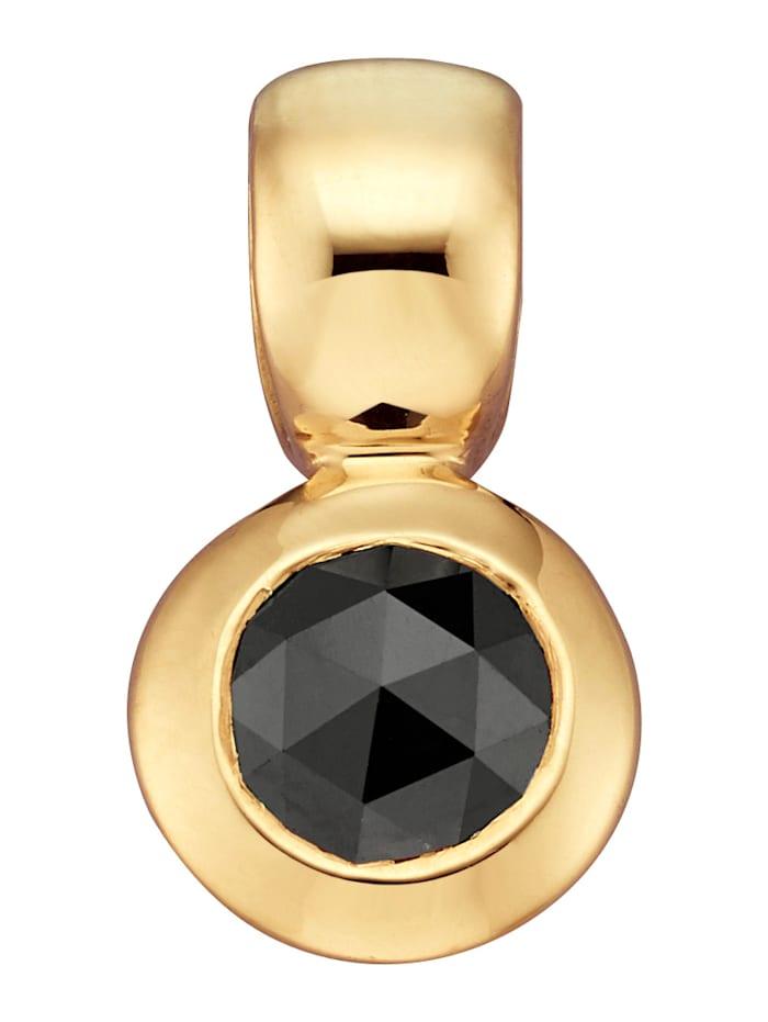 Anhänger mit schwarzem Diamant mit schwarzem Diamant