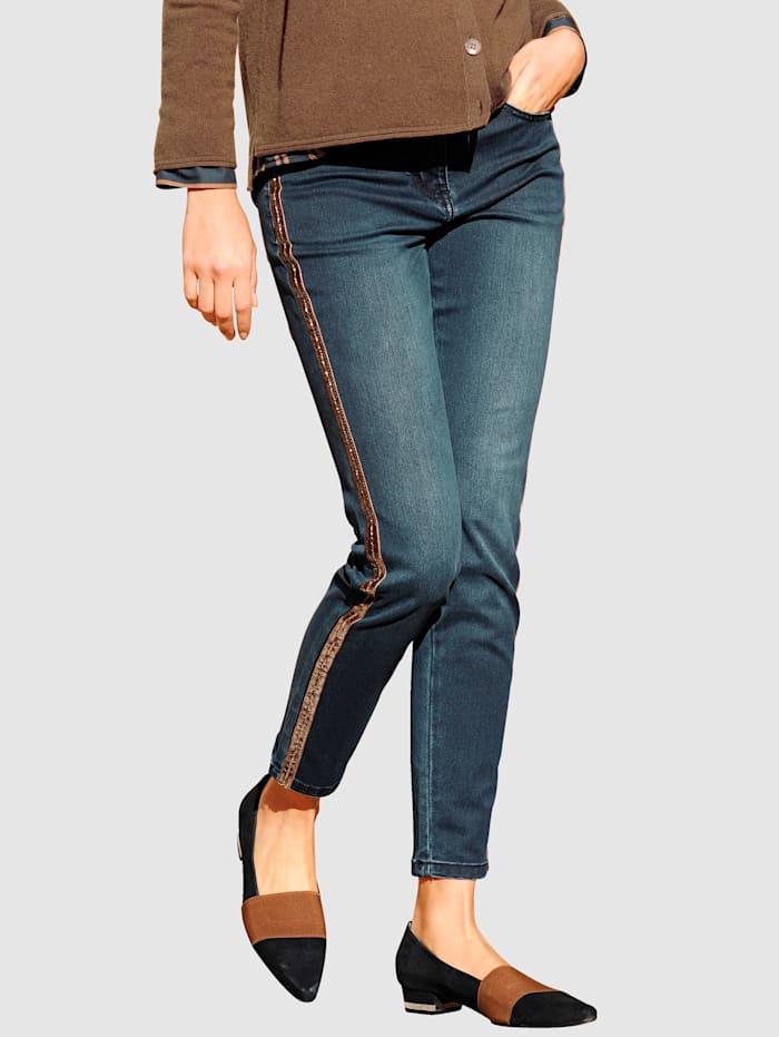 Alba Moda Džínsy v pohodlnej elastickej kvalite, Dark blue
