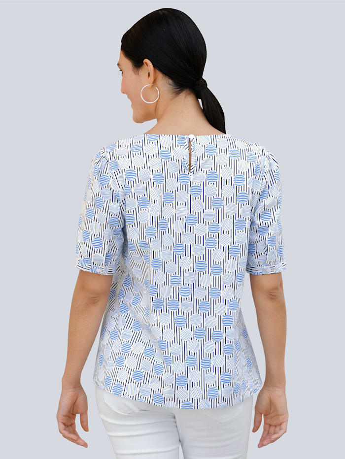Bluse in schönem Print allover