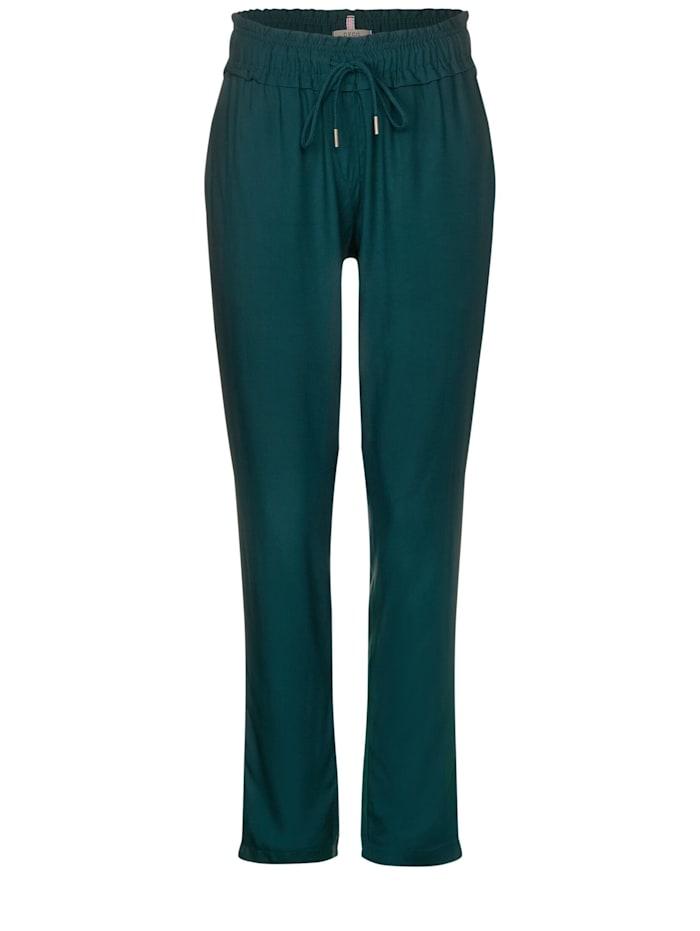 Cecil Lockere Hose, emerald green