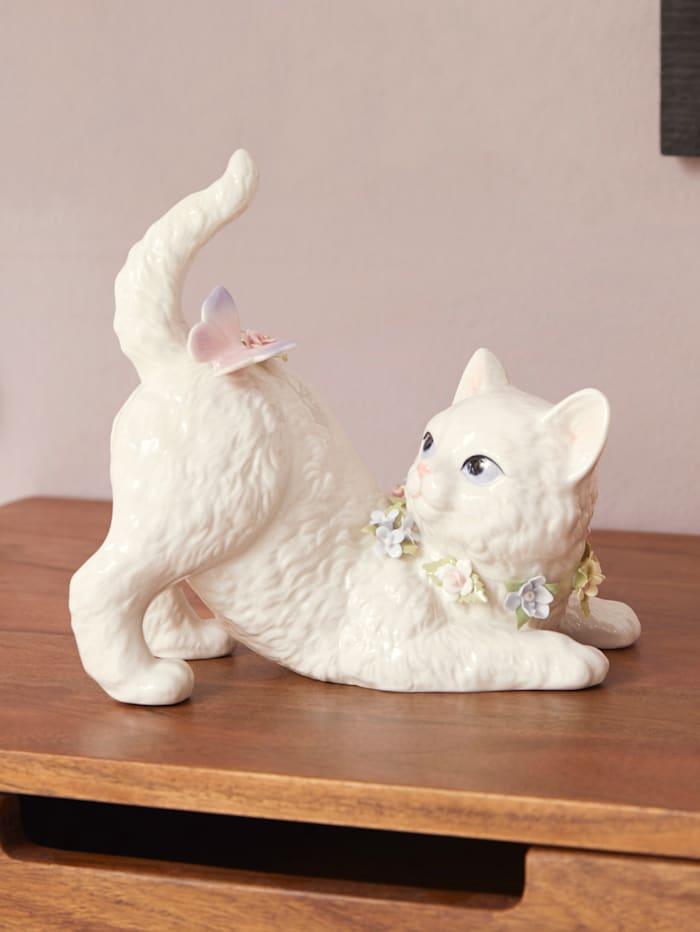 Schwartinsky Spieluhr Katze, Weiß