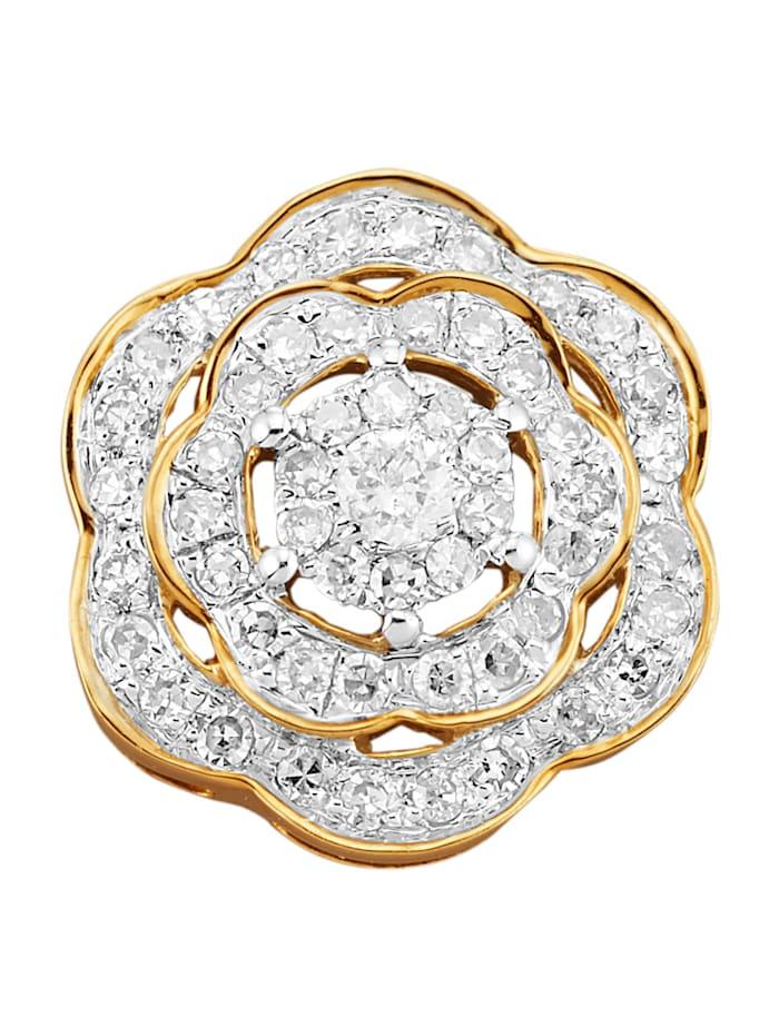 Anhänger mit Diamanten, Gelbgoldfarben