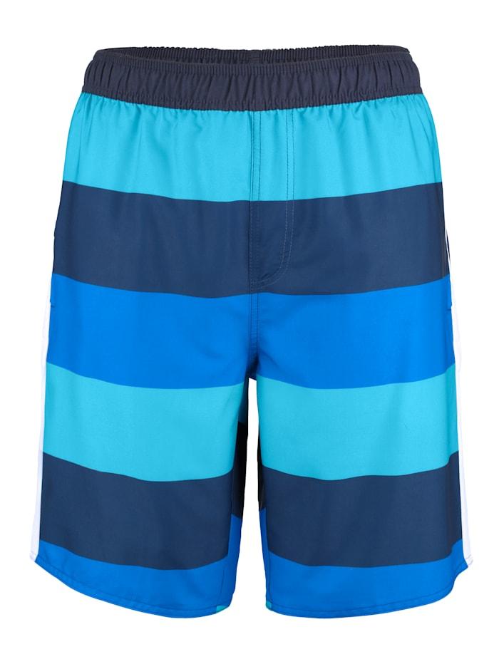 Zwemshort met trendy strepen