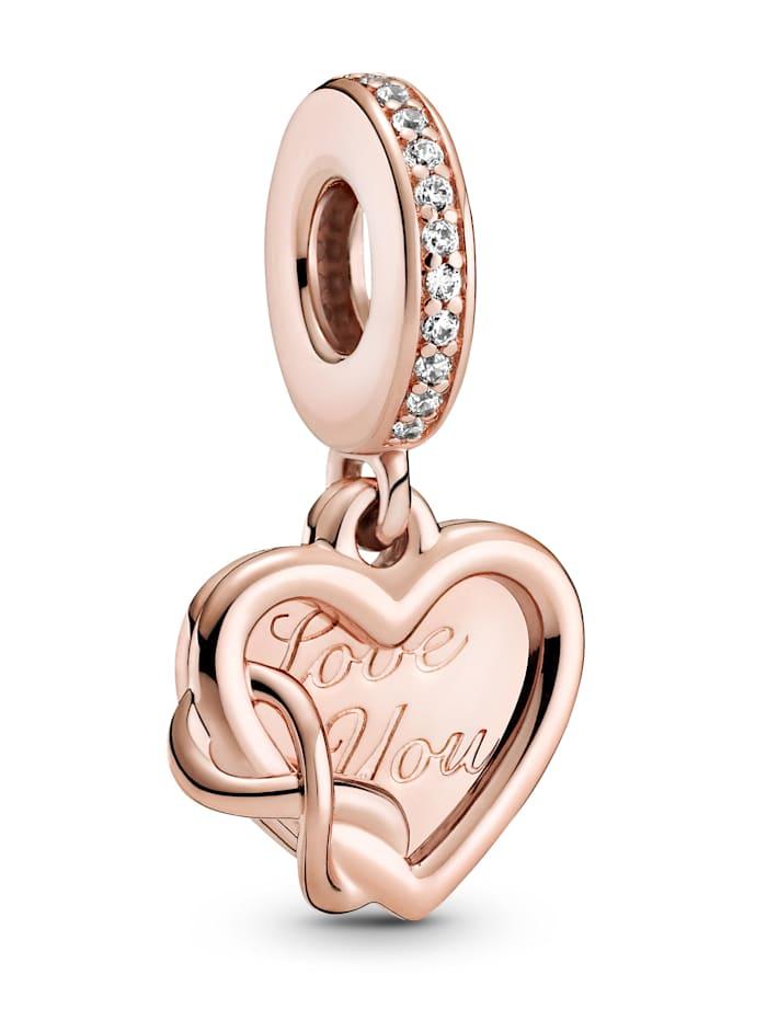 Pandora Charm-Anhänger - Unendlichkeits Herz - 789369C01, Rosé