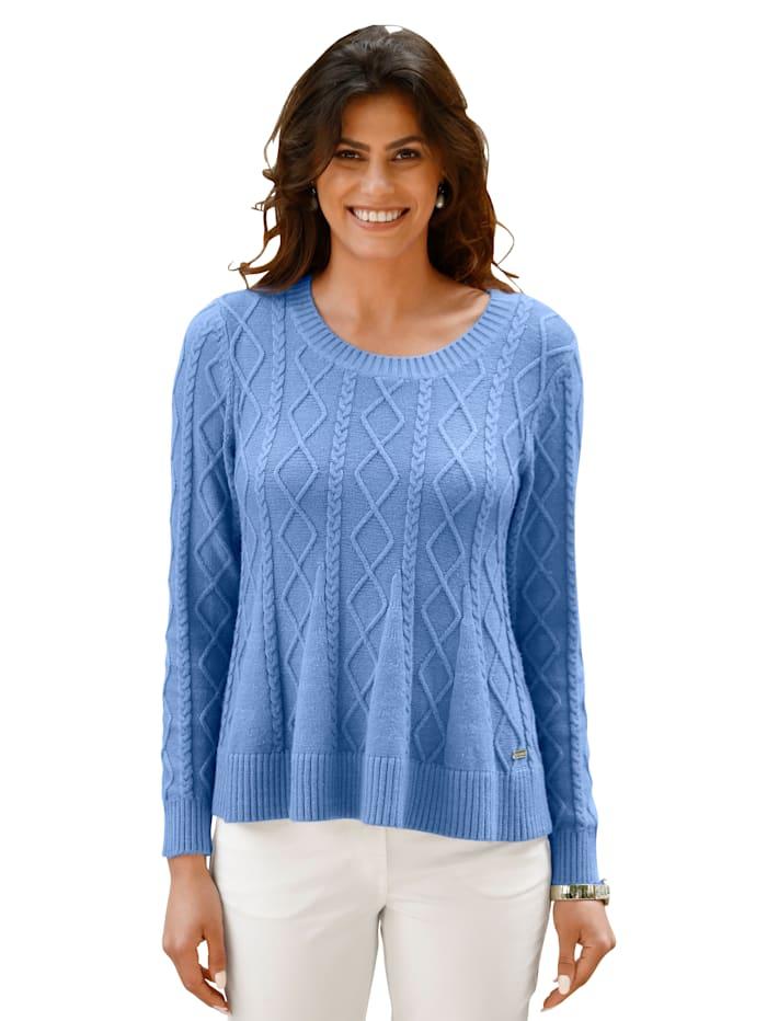 AMY VERMONT Pullover mit Schößchen, Blau