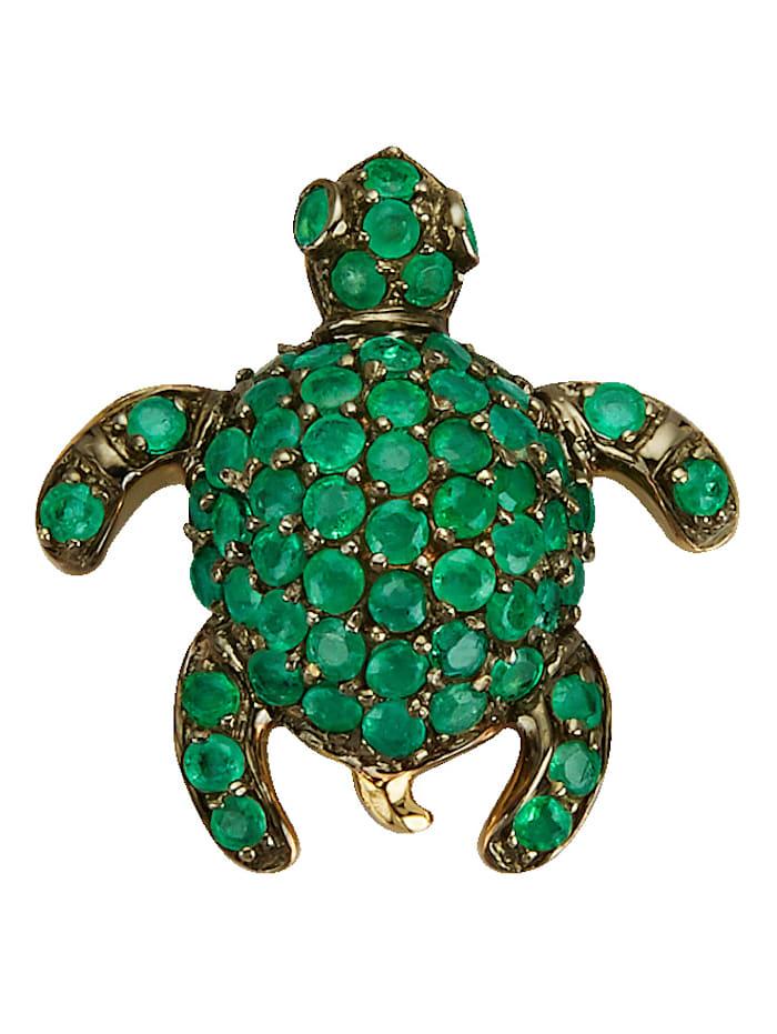 Diemer Farbstein Schildkröten-Anhänger, Grün