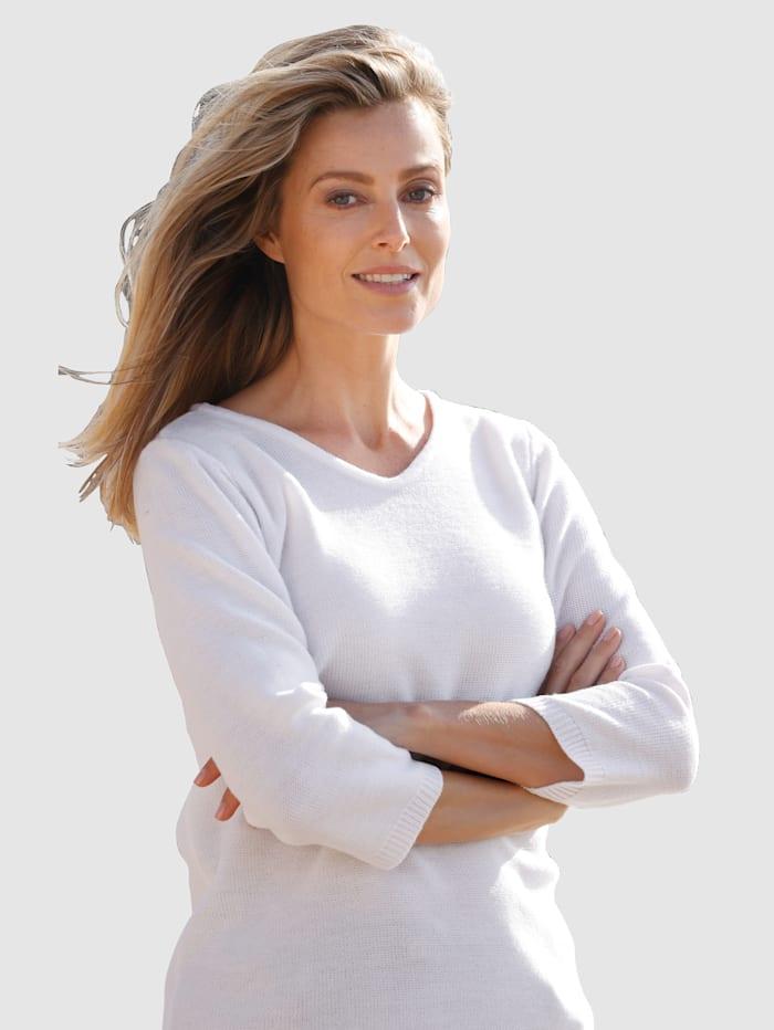 basically you Pullover in schlichter Form, Weiß